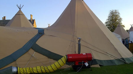 Heaters for marquees Oxfordshire
